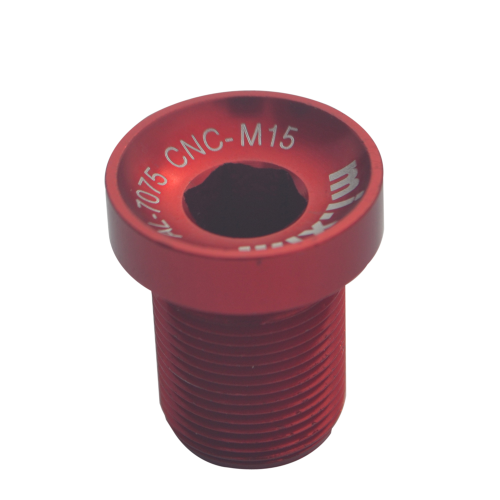 Red ChainRing Nut 1.5mm Alloy Alumium Spacer Kit 4 pcs