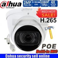 Original Dahua logo IPC HDW5231R ZE 2MP WDR IR Eyeball Network Camera 2.7mm 13.5mm lens Starlight Network Camera with micphone