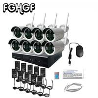 FGHGF Camera De Seguridad Cctv System 960p 8ch Hd Wireless Home Nvr Kit Ir Night For
