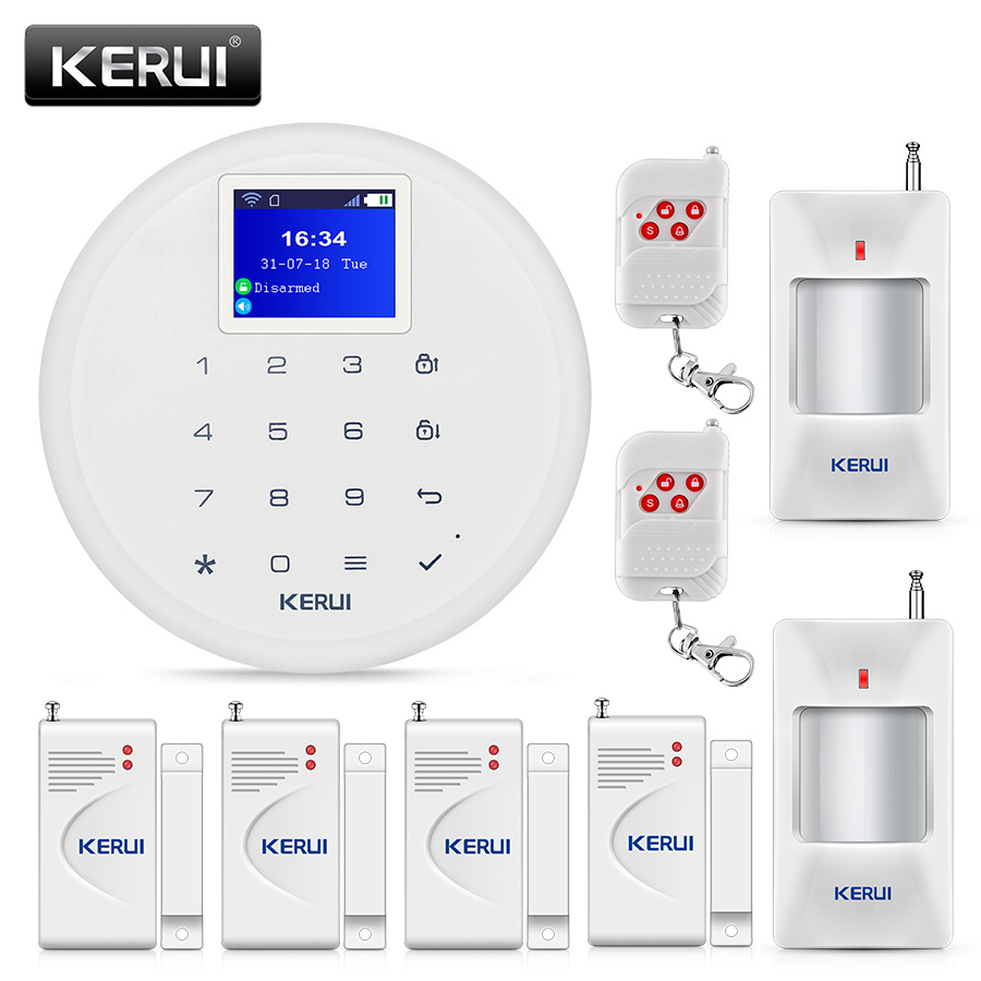 A-ZONE WIFI GSM Home Burglar Security Alarm System Door Sensor Infrared Detector
