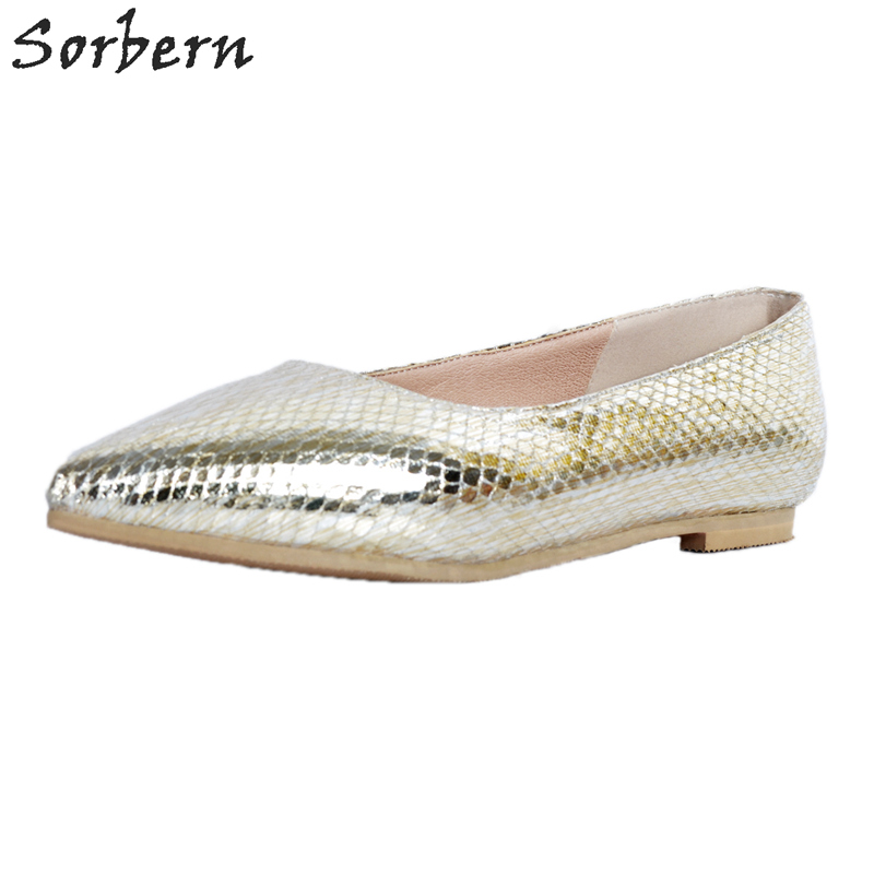 Sorbern Women Flats Shoes Plus Size Pointed Toe Sexy Ladies Shoes Large Size Shoes Women Custom Made Color PU Patent leather women ladies flats vintage pu leather loafers pointed toe silver metal design