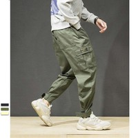 New Fashion Men Cargo Pants with Many Pocket Cotton Loose Baggy Hip Hop Harem Pants Streetwear Joggers Trousers Man Clothes