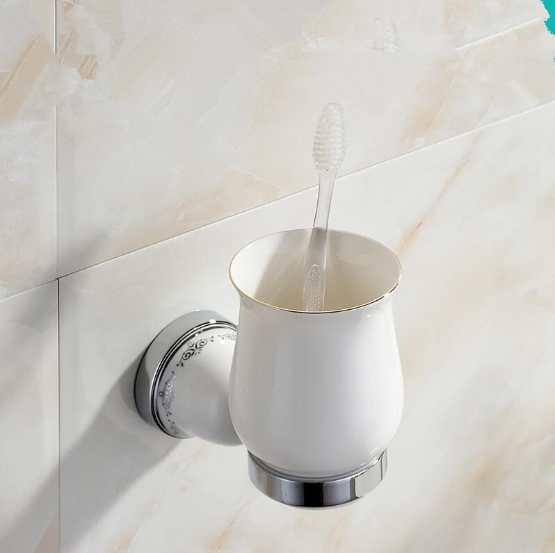 Bathroom Accessories,stainless steel Modern Chrome Toothbrush Tumbler&Cup Holder, Creative Design,Bath  banheiro Hardware bathroom accessories stainless steel modern black finish toothbrush tumbler