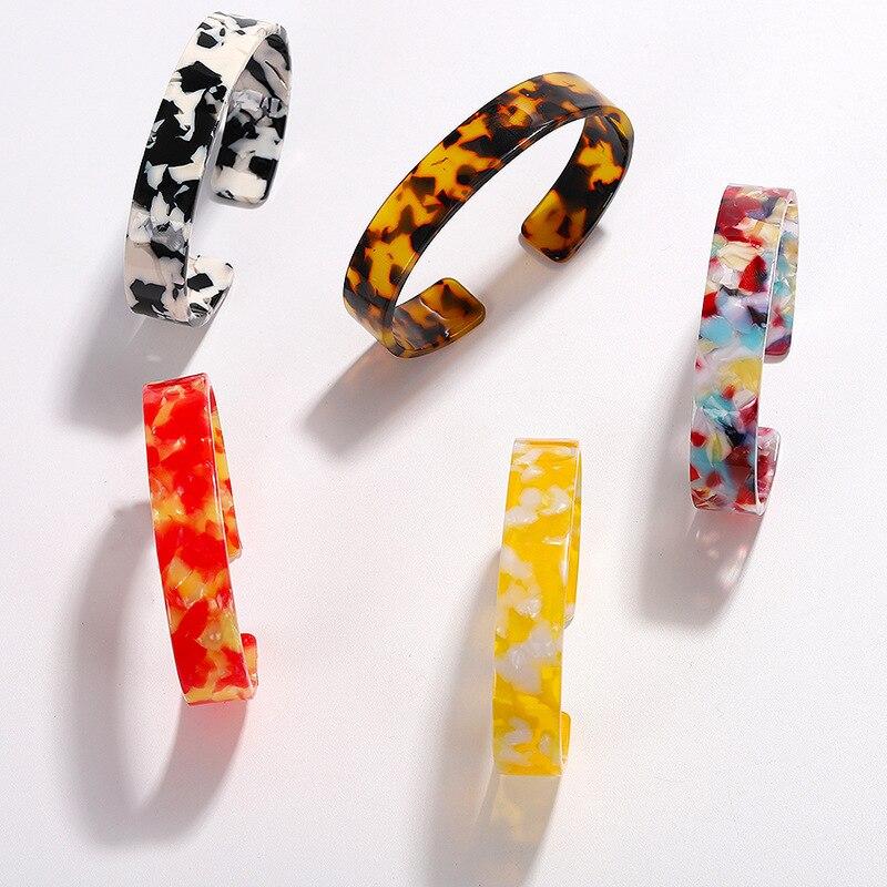 Модный браслет, богемные серьги, браслет из ацетата, простой узкий, черный, белый мрамор, аксессуары для ветра, оптовая продажа