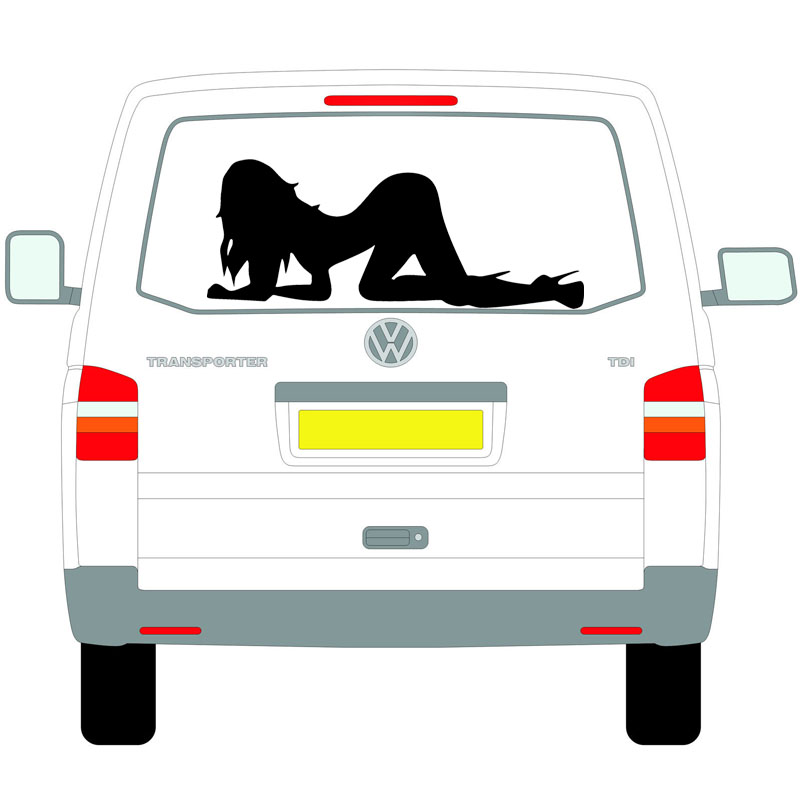Sexy Stripper Lady Silhouette Graphic Camper Van RV Trailer Truck MotorHome Vinyl DIY Kit Decals Car Stickers for rear or bonnet