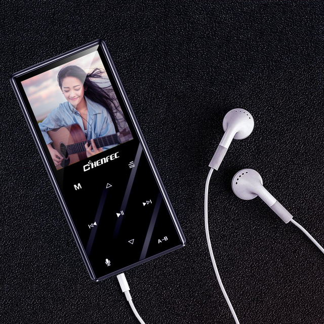 MP3 プレーヤー Bluetooth 4.2 金属 1.8 インチタッチボタンロスレス音楽プレーヤー内蔵スピーカー FM 、サポート TF カードまで 128 ギガバイト