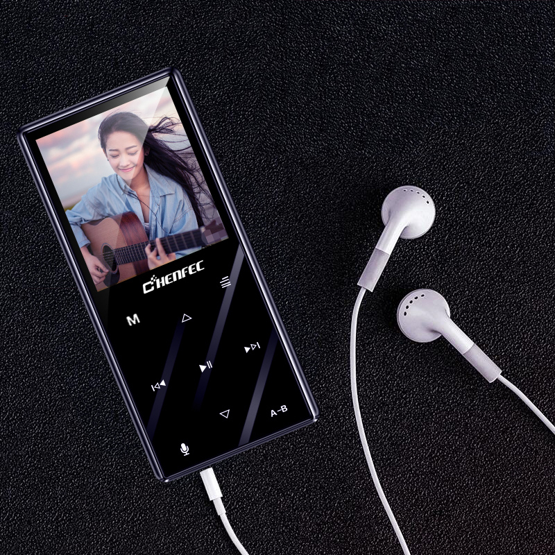 MP3 Player Bluetooth 4.2 Metal 1.8 Inch Touch Button Lossless Music Player Built-in Speaker With FM, Support TF Card Up To 128GB