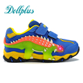2017 spring boys led sneakers 3D dinosaur light up shoes for children autumn casual kids led shoes patchwork kids shoes boys