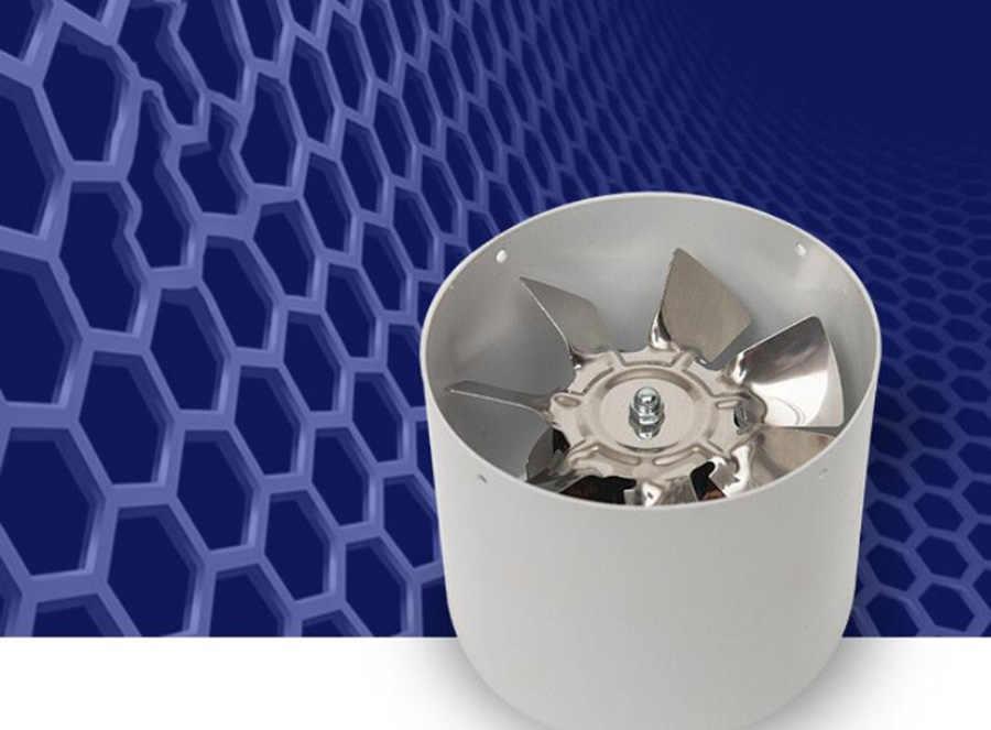 4 pulgadas 20w 220v silencioso extractor de la cocina baño ventana del baño ventilación de la pared Extractor de escape ventilador de ventilación de enfriamiento de la limpieza del aire