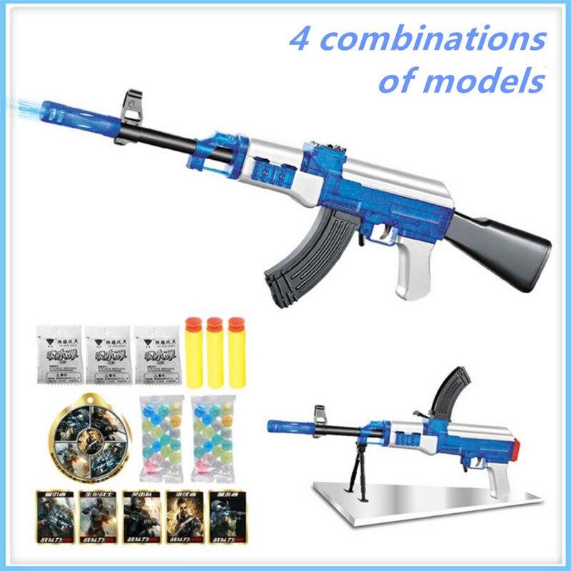 AK47 Elite Weiche Kugel live CS kunststoff ABS spielzeugpistole Sniper gewehr Feuergeschwindigkeit Von Kugeln Wasser Weichen Kristall Paintball gun spielzeug