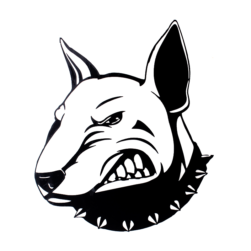 DW-026 Angry Bullterrier Dog Car Stickers Creative Vinyl Decal Car Styling Bumper Motorcycle Accessories 13.3*15.7CM