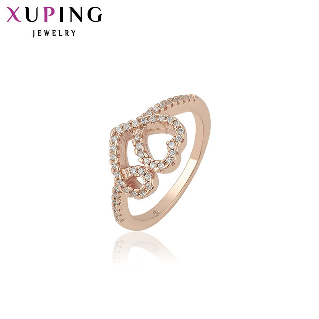 Xuping Fashion Ring Special Design Rings for Women High Quality Gold Color Plated Jewelry Christmas Gift 13104
