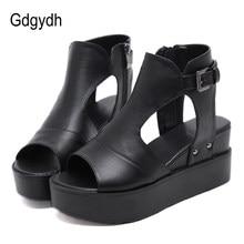 Achetez Compensées Promotion Des Sandales Noir Nw8OPm0nyv