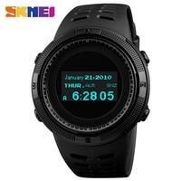 SKMEI Fashion Sport Watch Men Waterproof Calorie Steps Mileage Digital PU Strap Watch Compass Wristwatch Relogio Masculino XFCS