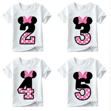 Girls T Shirts Boys Happy Birthday Cute And Funny Childrens Shirt Number 1 9 Gift