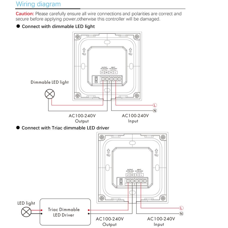wiring diagram for led dimmer led dimmer 220v s1 k led wall mount manual knob panel triac dimmer  220v s1 k led wall mount manual knob