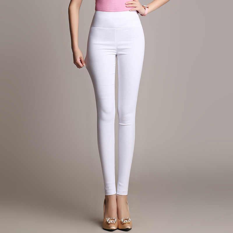 S-6XL15 Colori Nuovo Inverno Più Il Formato Pantaloni delle Donne di Modo di Colore Della Caramella Skinny a vita alta elastico Pantaloni Fit Lady Matita pantaloni