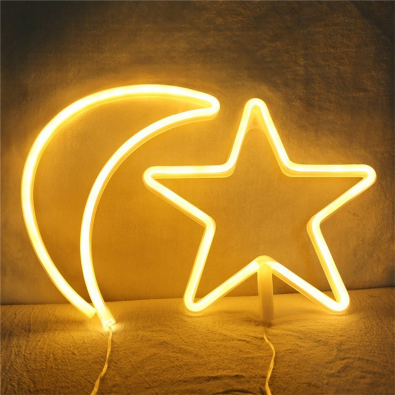 Wrumava Neon Lights LED Star Signs Light Neon Art Decorative Lights Wall Decor for Children Baby Room Christmas Wedding Party-in Novelty Lighting from ...