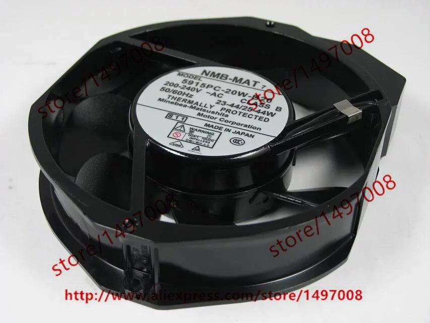 все цены на  Free Shipping For  NMB 5915PC-20W-B20 S11 AC 200-240V 50/60Hz 23-44/25-44W 150x172x38mm Server Round Cooling fan  онлайн