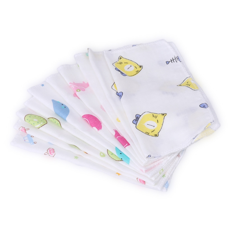 20x20cm Baby Infant Portable Washcloth Face Towel Bathing Feeding Wipe Cloth