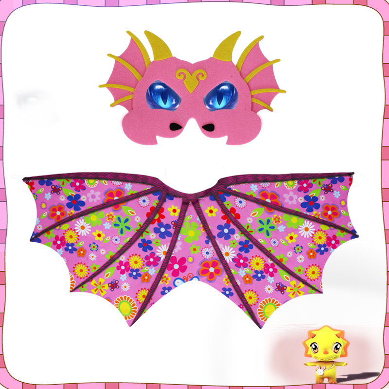 3-7 Y.O SPECIAL Vivid Dragon Wings Mask Costume Carnival Wings Christmas Baby Birthday Toys Dinosaurs Party Masks Masquerade