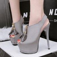 Ankle Strap Heels Platform Sandals For Women Red Wedding Sandals Women Pumps High Heels Tassels Sandals