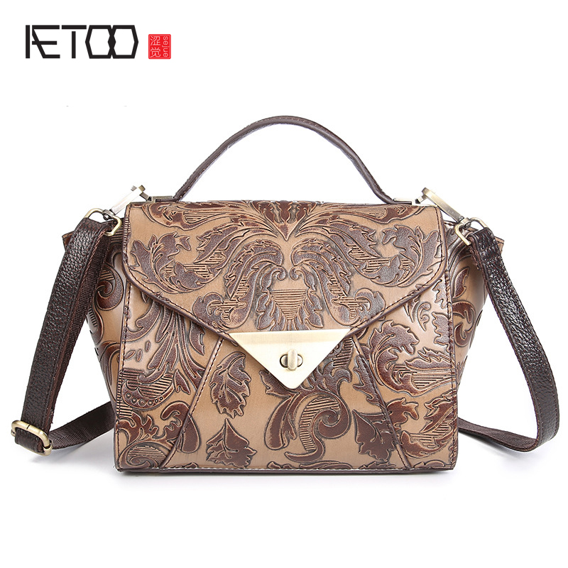 New handbags hand rub wipe handbag Messenger bag handbags retro handbags Japan and South Korea leisure