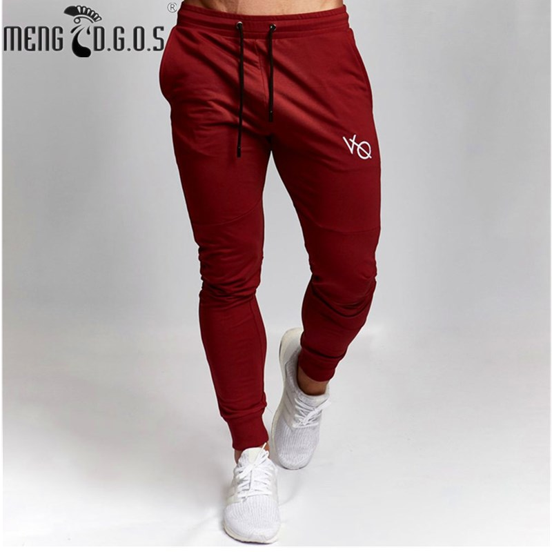 2018 fitness brand men's high quality trousers high elasticity autumn and winter casual pants, feet pants fitness men's clothing