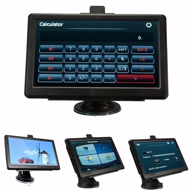 Unversal 7 polegada Tela Capacitiva HD Car GPS Navigation SAT NAV Navigator FM 4 GB Caminhão Veículo GPS NOS Mapas