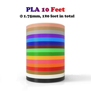 Dikale 3D Ручка специальная 1,75 мм PLA нить 3D печатный материал 3D принтер 12 видов цветов заправки моделирование стереоскопическое отсутствие загрязнения 36 м