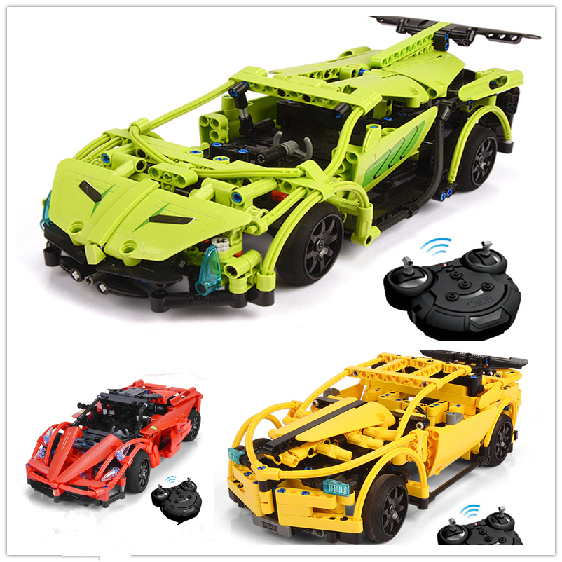Technic Series 3368 Race Car With Battery Bricks LegoINGl 42056 RC Car Model Building Kits Blocks 21014 DIY Toys Birthday Gifts автов махачкале ваз 21014 год 2011