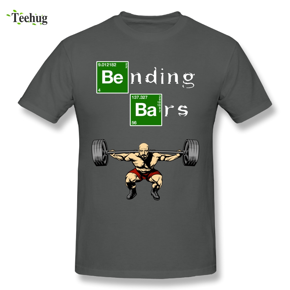 Cool Man Bending Bars Walter White Breaking Bad T-Shirt Comfortable Leg Days Cotton T Shirt image