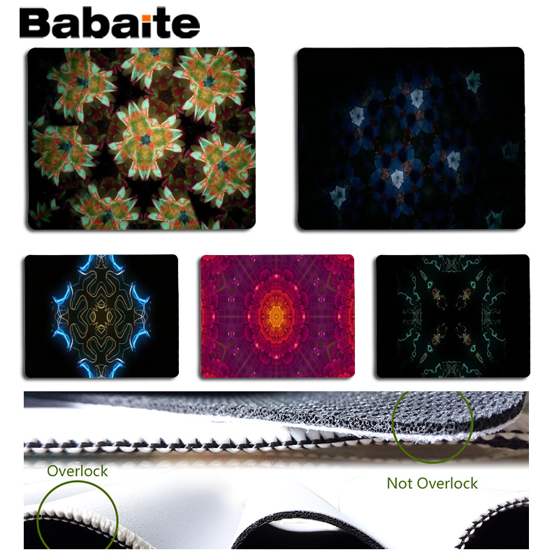 Babaite Non Slip PC Colorful kaleidoscope Computer Gaming Mousemats Size for 18x22cm 25x29cm Rubber Mousemats