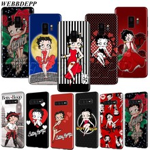 WEBBEDEPP เซ็กซี่ Betty Boop สำหรับ Samsung Note 8 9 10 S6 S7 S8 S9 S10 S10e S20 ultra A71 a51 A81 A91 Lite EDGE PLUS(China)