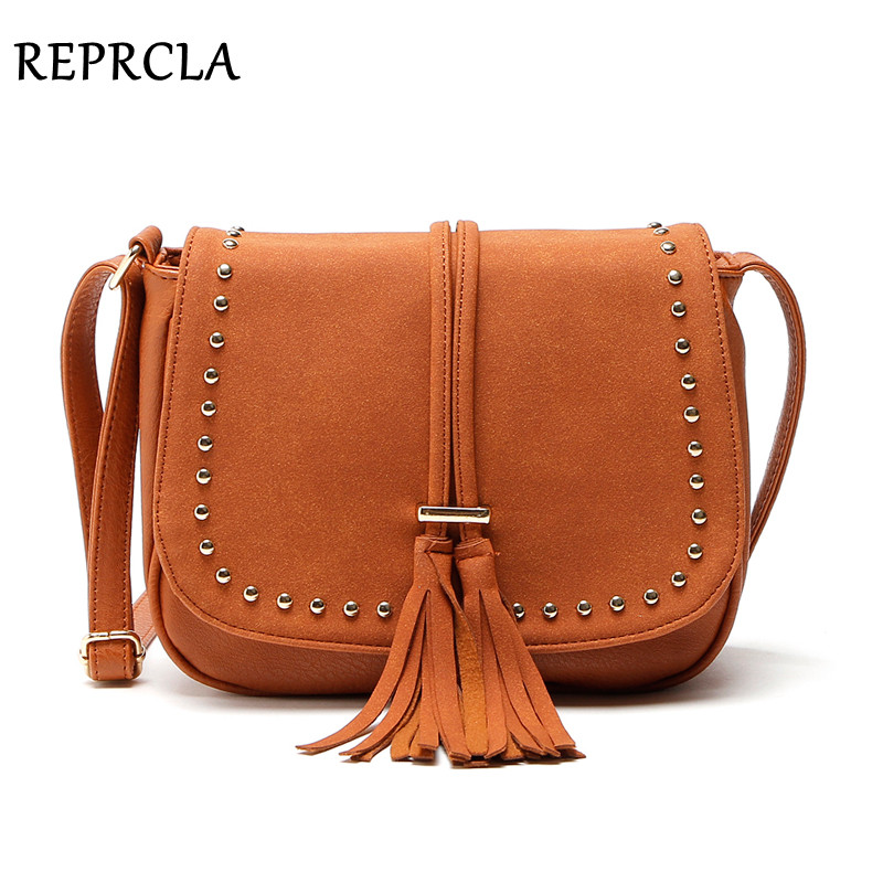 REPRCLA New Tassel Women Bags Fashion Designer Ladies Shoulder Bag High Quality Crossbody Bags for Women Messenger Bags Handbags maihui designer handbags high quality shoulder crossbody bags for women messenger 2017 new fashion cow genuine leather hobos bag