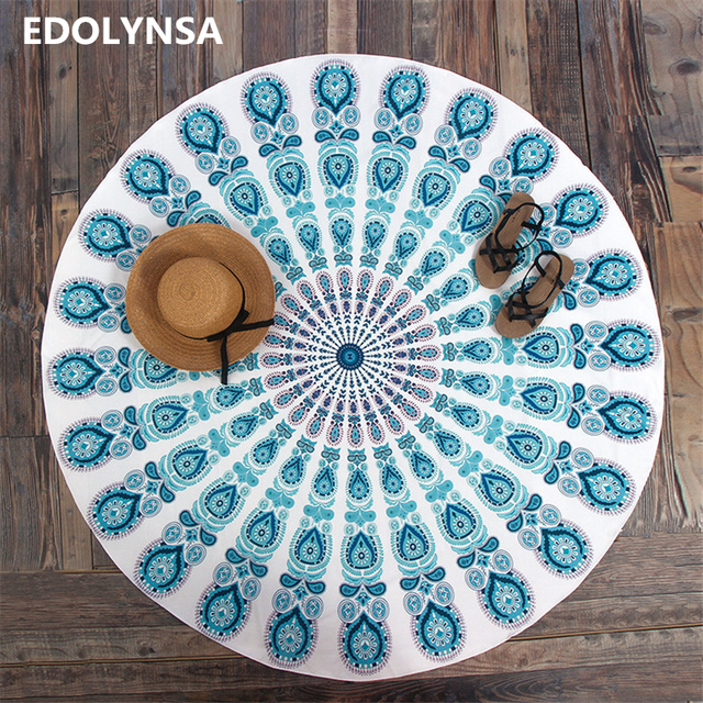 Neuheiten Runde Strand Decke Yoga Matte Gedruckt Mandala Decke