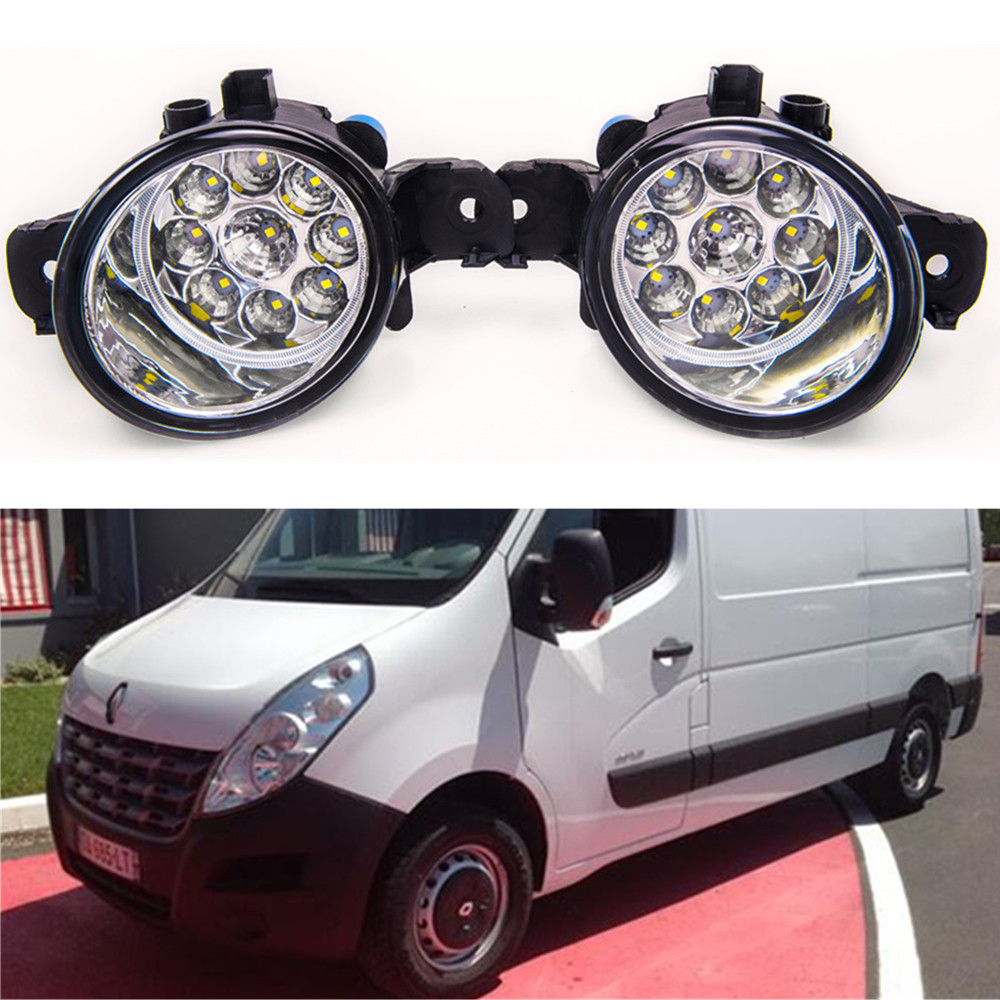For RENAULT MASTER 3  2010-2015 Car styling front bumper LED fog Lights high brightness fog lamps 1set for lexus rx gyl1 ggl15 agl10 450h awd 350 awd 2008 2013 car styling led fog lights high brightness fog lamps 1set