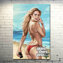 Grand Theft Auto V Video Game GTA 5 Art Silk Fabric Poster Print 13×20 32×48 inches Wall Pictures (click to see more) -1