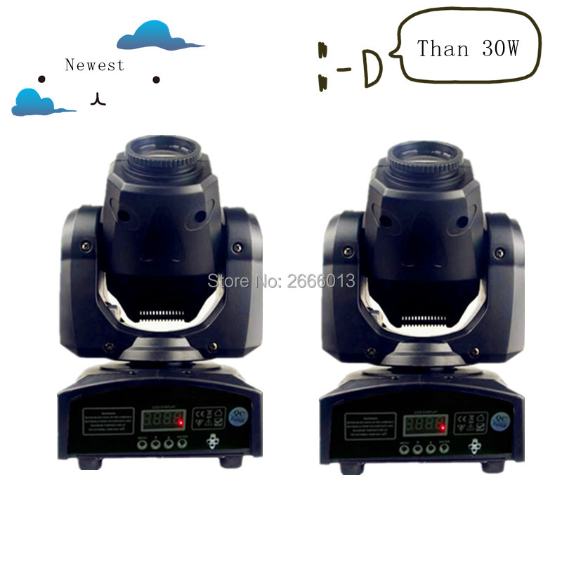 2pcs/lot Newest 30W mini led spot moving head light 30W DMX dj 8 gobos effect stage lights/ktv bar club disco lamp LED lighting led 30w spot moving head lights party disco dj stage lighting 30w mini gobo projector dmx stage effect light led pattern lamps