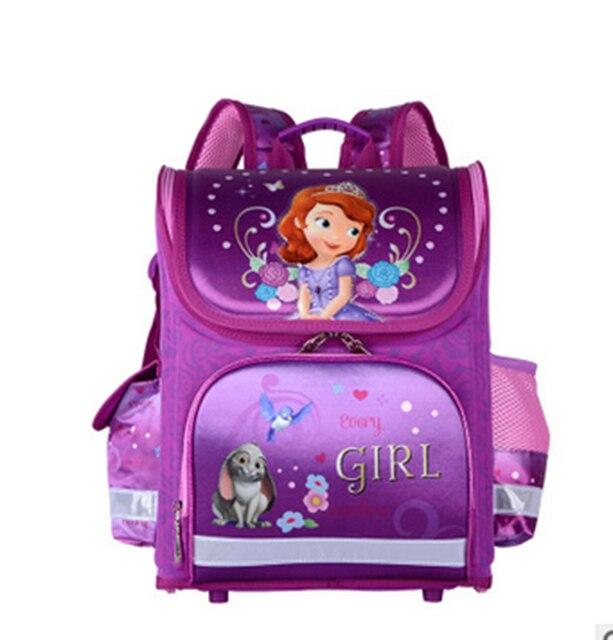 2017 Princess Anna Elsa Sofia Cartoon School Backpack Mochila Infantil  School Bag Orthopedic Girls Princess Children School Bags ba61f5cb788e6