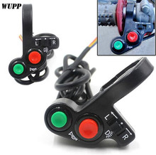 WUPP Multifunction Motorcycle Handlebar Switch ON-OFF Button LED Headlight Scooter