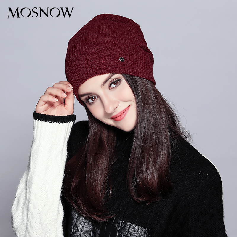 Hats For Women Warm   Beanie   2018 Fashion Autumn Winter Brand New Lattice Cotton Knitted Hat Female   Skullies     Beanies   Bonnet Ladies