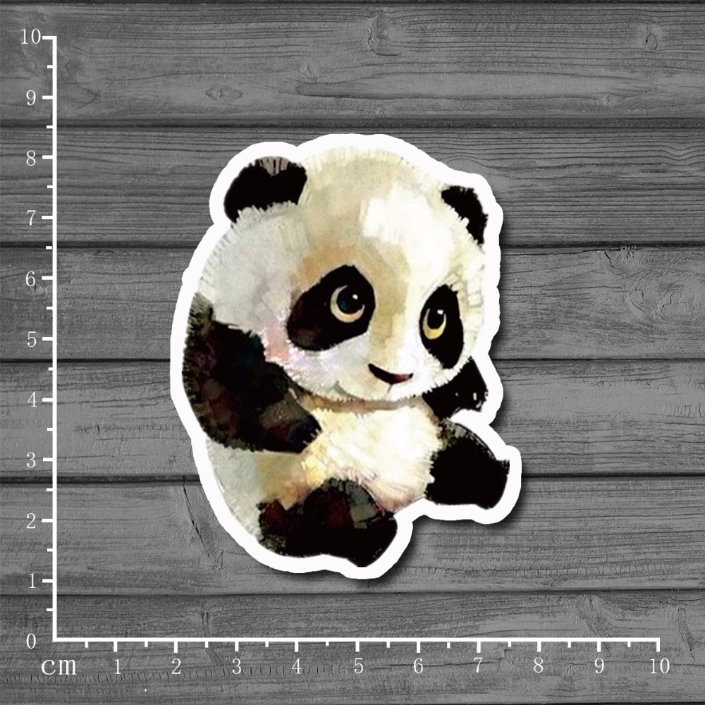 Cute panda bowls Laptop Notebook Skin Stationery Stickers Snowboard Luggag Styling Decal For kid Toy Suitcase Stickers[single]