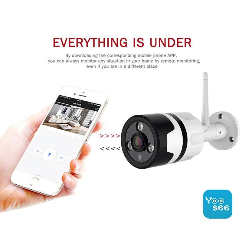 wifi outdoor IP camera 1080P waterproof 2.0MP wireless security camera metal two way audio TF card record P2P bullet camera цена