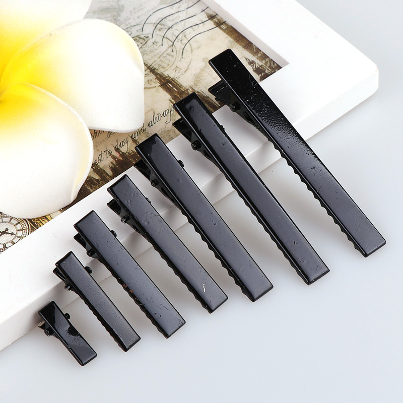 20PC Metal Black Hair Clips Hairdressing Clip Hairpins Cutting Salon Hairdresser Head Hair Accessories Plastic Barrette