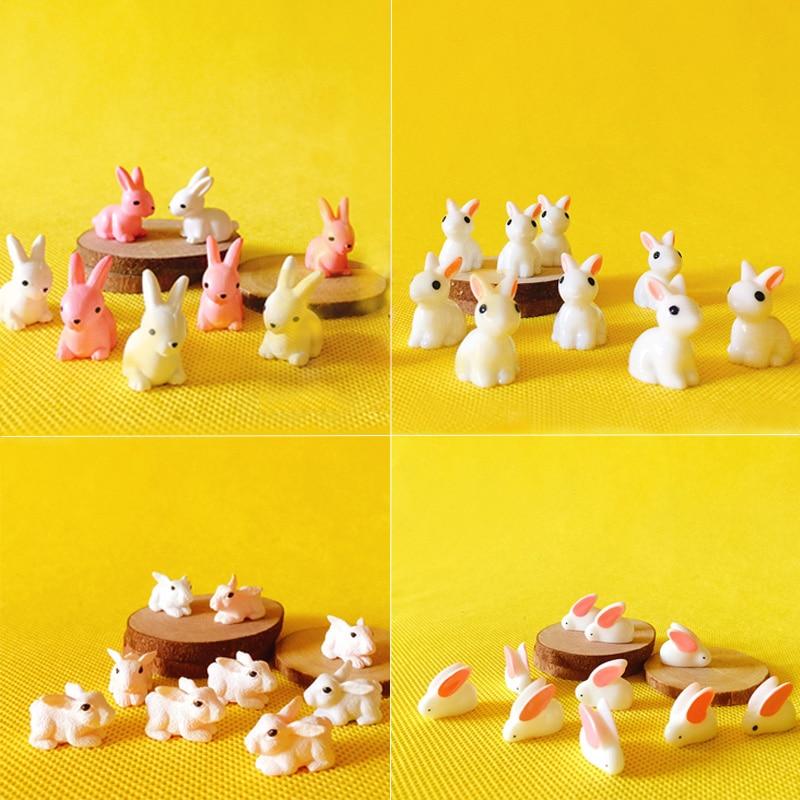 Miniature Dollhouse Animal Figurine Set Fairy Garden Terrarium Bonsai Decoration