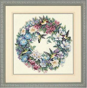 Top Quality Lovely Cute Counted Cross Stitch Kit Hummingbird Wreath Flower Wreath Dim 35132
