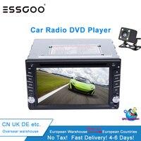 Essgoo 6.2 2 Din Car Multimedia Player GPS Navigation Bluetooth Dvd Car Radio Rear View Camera Stereo Autoradio Navigators