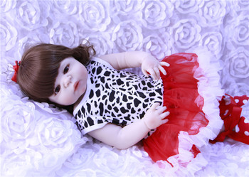 "NPK princess girl doll reborn 23"" Full silicone vinyl body reborn baby dolls classic play house toy dolls gift for child"
