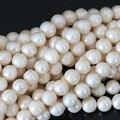 Hermosa 7-8mm blanco natural de agua dulce perla cultivada de granos flojos elegantes mujeres joyería diy al por mayor al por menor cerca de ronda B1324